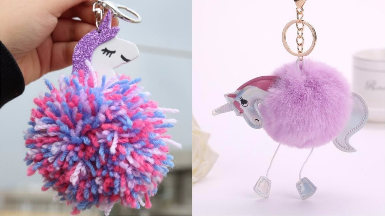 Pompom Keychain Very Simple and Inexpensive Giveaways